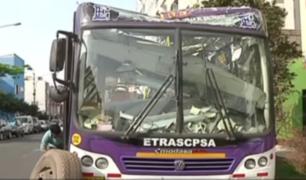 Pueblo Libre: bus que chocó contra puente y dejó 23 heridos debía 16 mil soles en papeleta