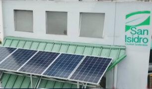 San Isidro: instalan paneles solares que cargan celulares sin contaminar