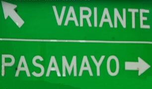 La vida en la variante de Pasamayo