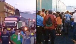 San Luis: estibadores inician huelga en Mercado Mayorista de Frutas