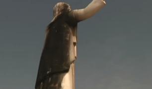 Cristo del Pacífico continúa sin ser refaccionado a dos días de la llegada del Papa