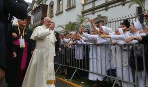 Jesús María: Papa Francisco llegó a la Nunciatura y desató algarabía de los fieles