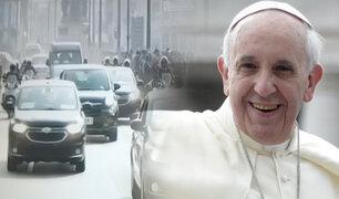 El papa Francisco se traslada al Grupo Aéreo N° 8 para viajar a Puerto Maldonado