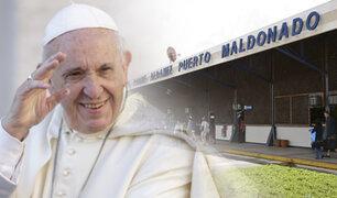 Papa Francisco llegó a Puerto Maldonado