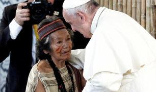 """Papa a nativos: """"Necesitamos de vuestra sabiduría y conocimiento"""""""