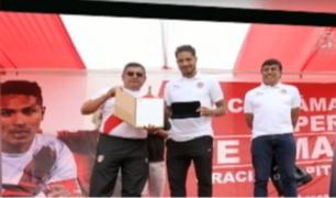 Capitán Paolo Guerrero recibió homenaje en el distrito de Pachacamac
