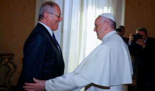 Papa Francisco culmina su visita en Perú y se despide del presidente Kuczynski y su esposa