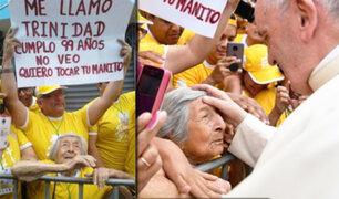 Trujillo: papa Francisco cumplió el sueño de una mujer invidente de 99 años