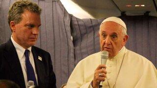 Papa Francisco habló del Sodalicio en el vuelo de regreso al Vaticano