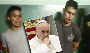 La Victoria: ladrones piden a papa Francisco que los ayude para dejar de delinquir