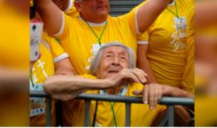 Conozca lo que le dijo el Papa Francisco a anciana invidente de 99 años