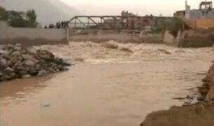 Chosica: temor en vecinos por aumento de caudal del río Rímac