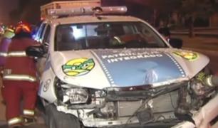 La Molina: chofer de unidad de serenazgo que estrelló contra empresa no contaba con brevete