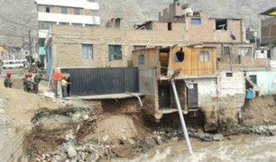 Chosica: desviación del río Rímac deja más de 50 damnificados