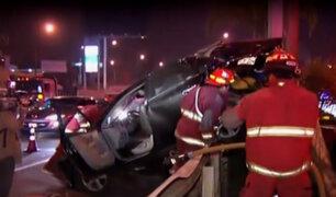 Vía Expresa Javier Prado: cuádruple choque deja al menos siete heridos
