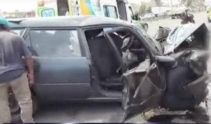 Accidente en Panamericana Sur: 7 miembros de una familia permanecen en Cuidados Intensivos