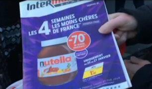 Francia: destrozos y peleas en supermercados por descuentos en frascos de Nutella