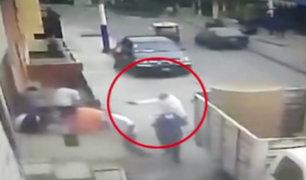 Rímac: cámaras captan asesinato de trabajador de construcción civil