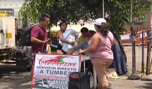 Tumbes: transportistas suben pasajes por venezolanos que quieren viajar