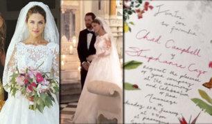 Colombia: actriz Stephanie Cayo se casó en Cartagena de Indias