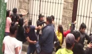 Huancayo: reconstrucción de crimen termina en batalla campal