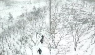 Registran tormentas de nieve en China