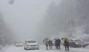 Líbano: fuerte temporal cubre de nieve el país