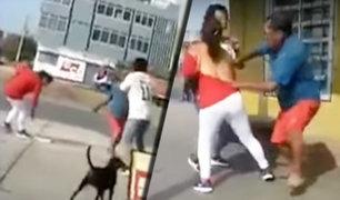Chimbote: hombre sorprende a su esposa con su amante y los agrede en la vía pública