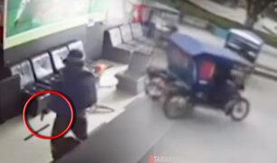 Tarapoto: asaltan casa de apuestas y se llevan 3 mil soles