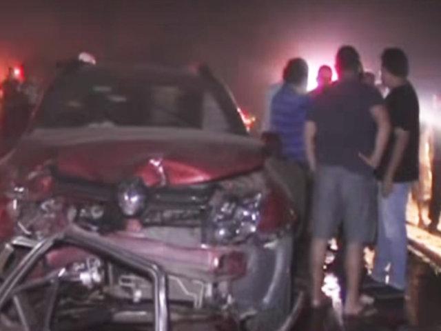 Trujillo: tres personas fallecidas deja choque múltiple en la vía de Evitamiento