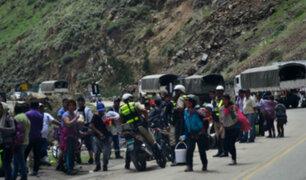 Carretera Central: productores de papa bloquean vía por paro agrario