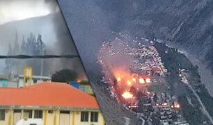 Huancavelica: agricultores incendian instalaciones de ElectroPerú