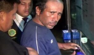 Presunto asesino de niña en SJL se mostró desafiante durante detención