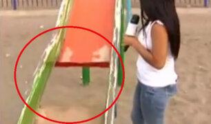 Chorrillos: juegos recreativos son un serio peligro para niños