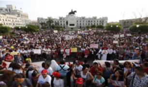 Centro de Lima: miles de personas participaron de la movilización 'Jimena renace'