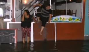 La Molina: río Surco inunda parte de obras de la línea 2 del Metro de Lima
