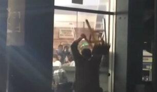 Miraflores: ciudadano jordano destroza local comercial y ataca a trabajadores