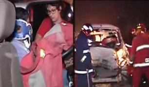 Chorrillos: choque entre minivan y cisterna deja dos heridos en los Pantanos de Villa