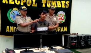 Tumbes: ladrón se quedó dormido en pleno robo