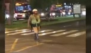 Usuarios critican a Policía de Tránsito que impidió el paso de una ambulancia