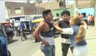 Huaral: transeúntes capturan y golpean a ladrón que robó celular a mujer