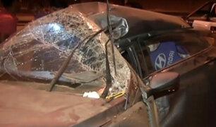 Conductor muere tras chocar contra poste en autopista Ramiro Prialé