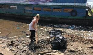 Migraciones aclara que turista que limpia el río Itaya no será deportada del país