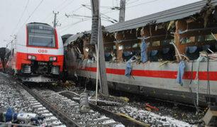 Austria: choque de trenes deja un muerto y más de 20 heridos