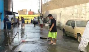 Desborde de río Surco deja varias viviendas afectadas en Ate