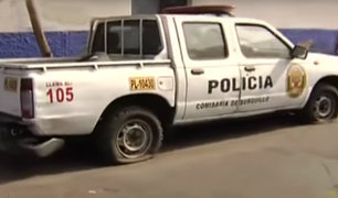 Vehículos se encuentran abandonados afuera de comisaría de Surquillo