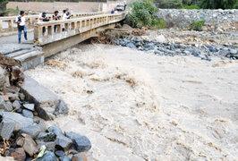 Se eleva caudal del río Rímac tras intensa llovizna de las últimas horas