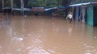Río Madre de Dios se desborda tras intensas lluvias y afecta 120 viviendas