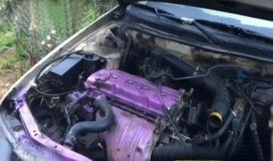 Delincuentes desmantelan auto y lo abandonan cerca a comisaría