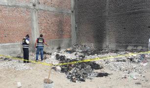 Trujillo: hallan cadáver calcinado de una mujer que estaba desaparecida